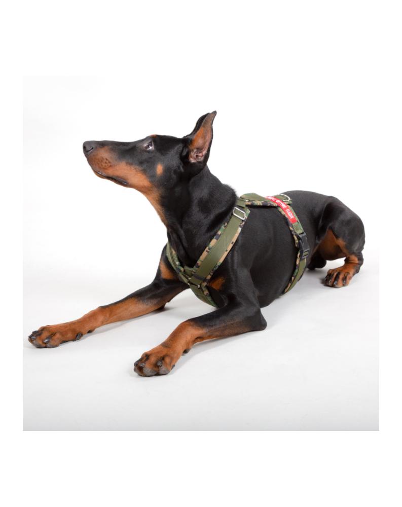 Postroj pro psa Alpha Dog Harrnes Alpha Industries Digi olive camo