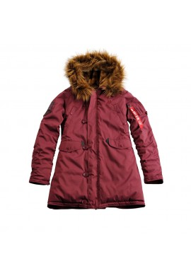 Dámská bunda EXPLORER Wmn. Alpha Industries  BURGUNDY