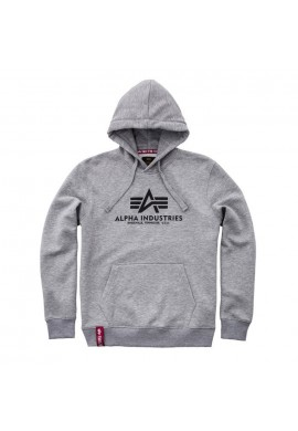 Mikina BASIC HOODY Alpha Industries, GREY HEATHER