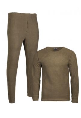 Spodní prádlo THERMOFLEECE s kulatým výstřihem OLIVOVÉ