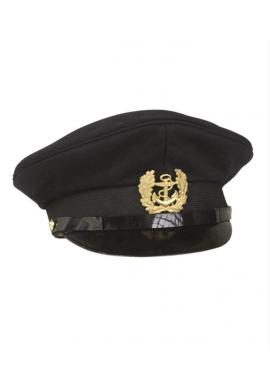 Námořnická kapitánská čepice TMAVĚ MODRÁ