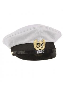 Námořnická kapitánská čepice BÍLÁ