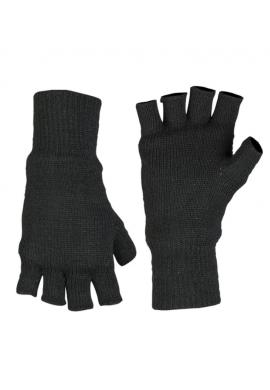 Pletené rukavice bez prstů THINSULATE ČERNÉ