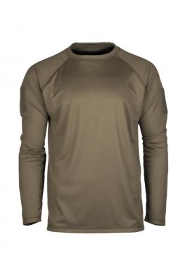 Rychleschnoucí triko s dlouhým rukávem OLIVOVÉ