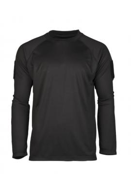 Rychleschnoucí triko s dlouhým rukávem ČERNÉ