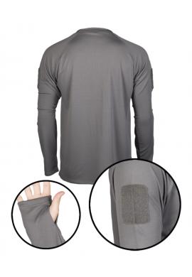 Rychleschnoucí triko s dlouhým rukávem URBAN GREY (ŠEDÉ)