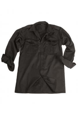 Služební košile dlouhý rukáv ČERNÁ