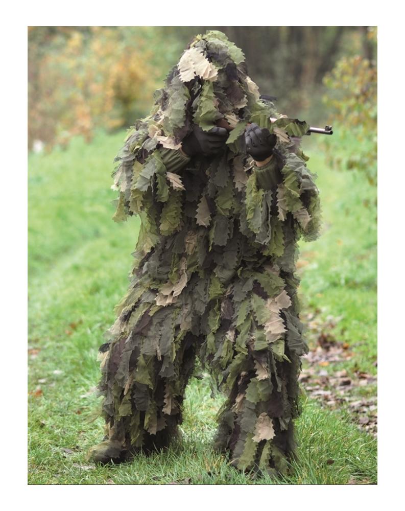 """3-Dílný maskovací oblek Hejkal """"DUBOVÉ LISTÍ 3D"""" WOODLAND"""