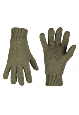 Pletené prstové rukavice ACRYL THINSULATE™ OLIVOVÉ