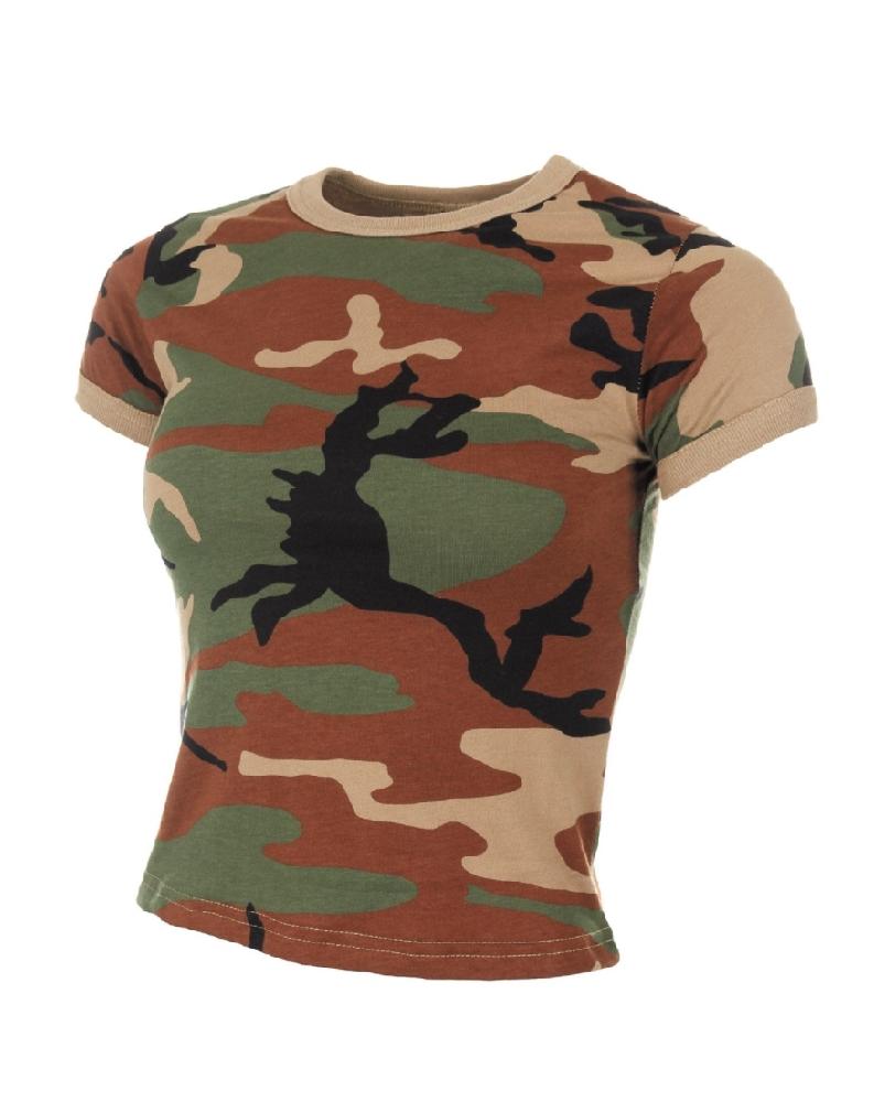 Dámské triko US krátkým rukávem WOODLAND