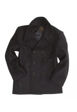 Námořnický kabát US NAVY PEACOAT TMAVĚ MODRÝ (s černými knoflíky)