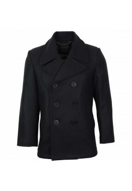 Námořnický kabát US NAVY PEACOAT ČERNÝ (s černými knoflíky)