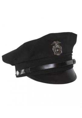 US Policejní čepice s odznakem TMAVĚ MODRÁ