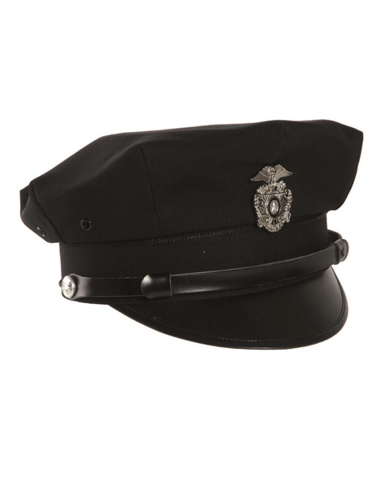 US Policejní čepice s odznakem ČERNÁ