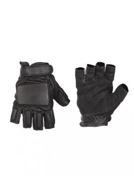 Kožené bezprsté rukavice SECURITY ČERNÉ