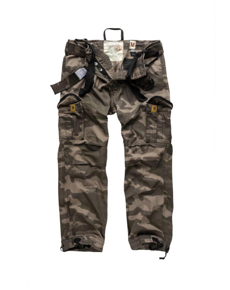 Kalhoty VINTAGE PREMIUM BLACK CAMO