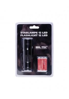 Štábní baterka 12 LED (3AAA) černá