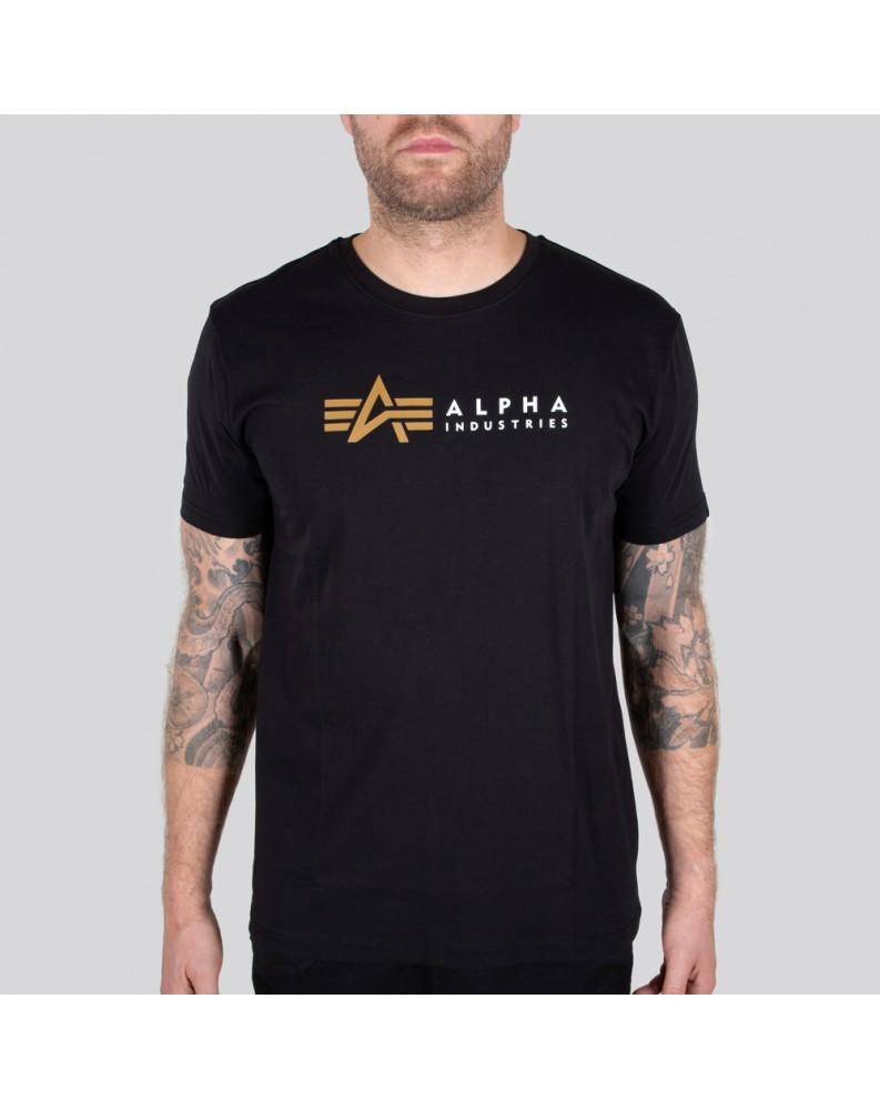 Tričko ALPHA LABEL T Alpha Industries Černé