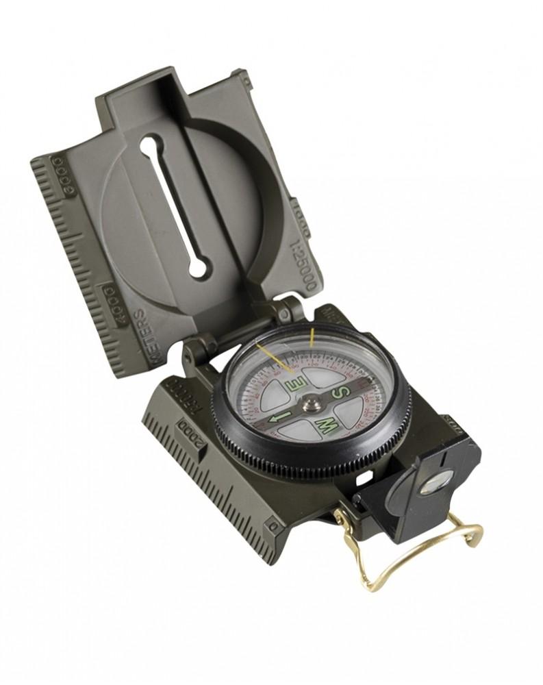US kompas s kovovým krytem a LED podsvícením