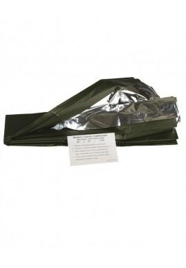 Záchranná fólie Survival stříbrno/olivová