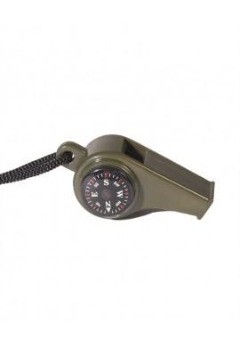 Píšťalka plastová s kompasem a teploměrem