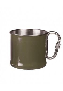 Hrnek nerezový s karabinou 500 ml olivový