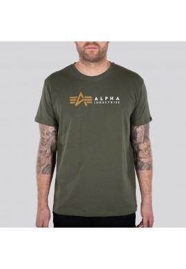 Tričko ALPHA LABEL T Alpha Industries Dark olive
