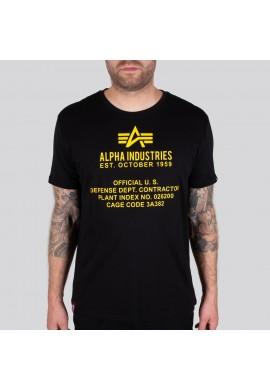 Tričko Alpha Industries ALPHA FUNDAMENTAL T Černé