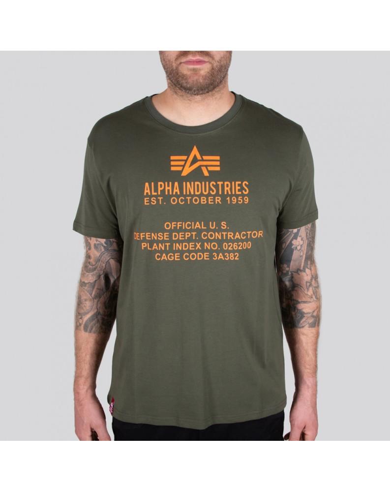 Tričko Alpha Industries ALPHA FUNDAMENTAL T Dark olive