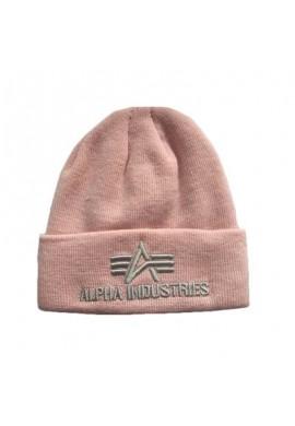 Dámská čepice Alpha Industries 3D BEANIE Wmn. silver pink