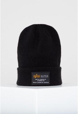 Čepice Alpha Industries CREW BEANIE černá