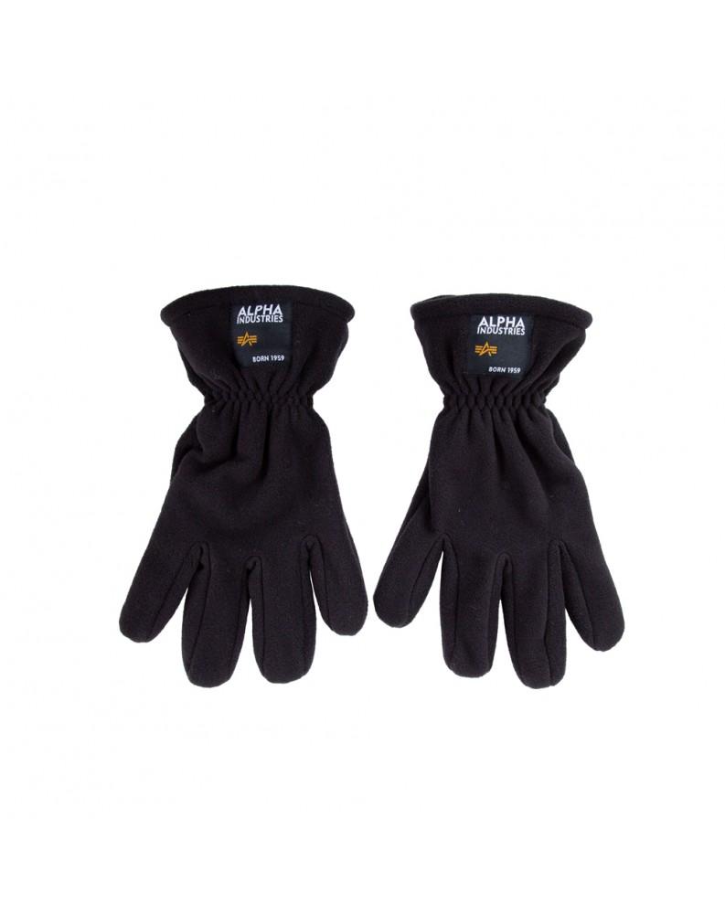 Alpha Industries rukavice LABEL FLEECE GLOVES černé