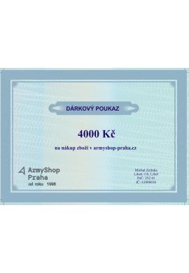 Dárkový poukaz v hodnotě 4000 Kč