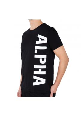 Tričko Alpha Industries SIDE PRINT T černé
