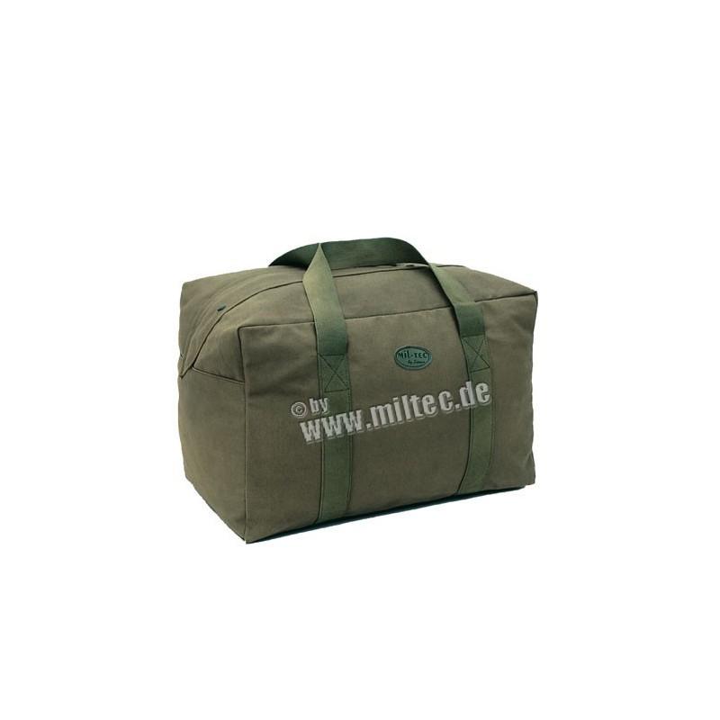 Letecká taška bavlna oliv 60x40x30