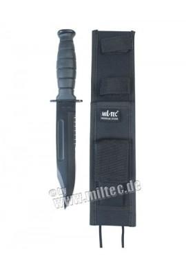 Útočný nůž 30cm Army s pochvou černý