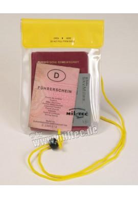 Náprsní kapsa vodotěsná 200x130mm žlutá