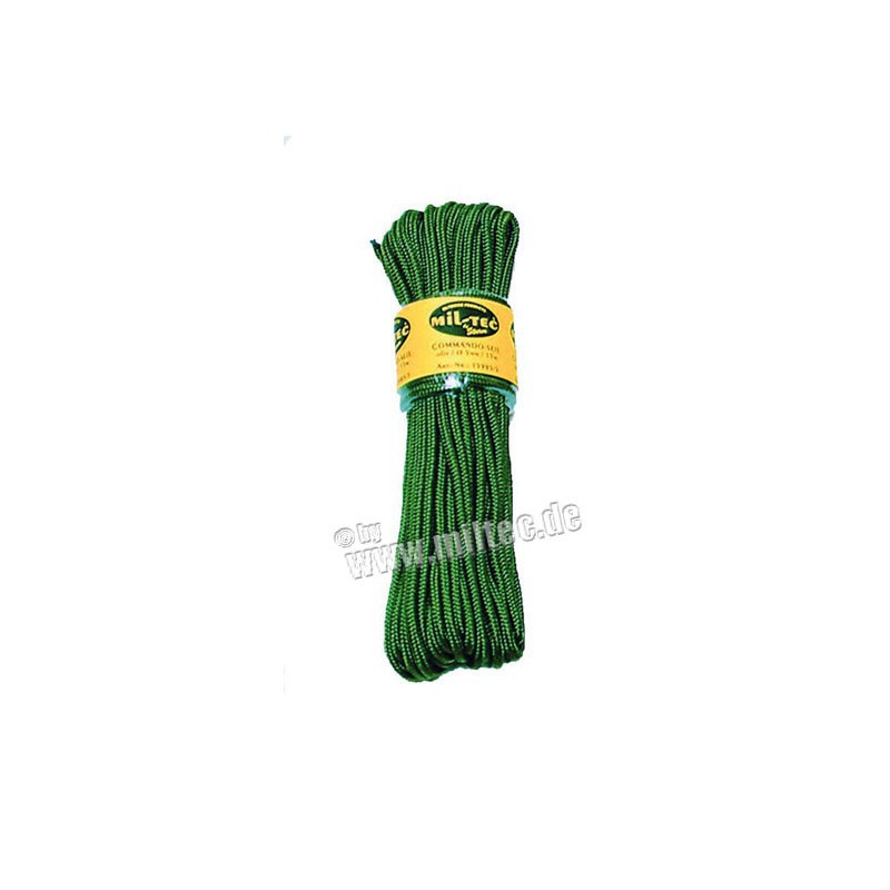 Commando nylonové lanko 15m délka (7mm) oliv