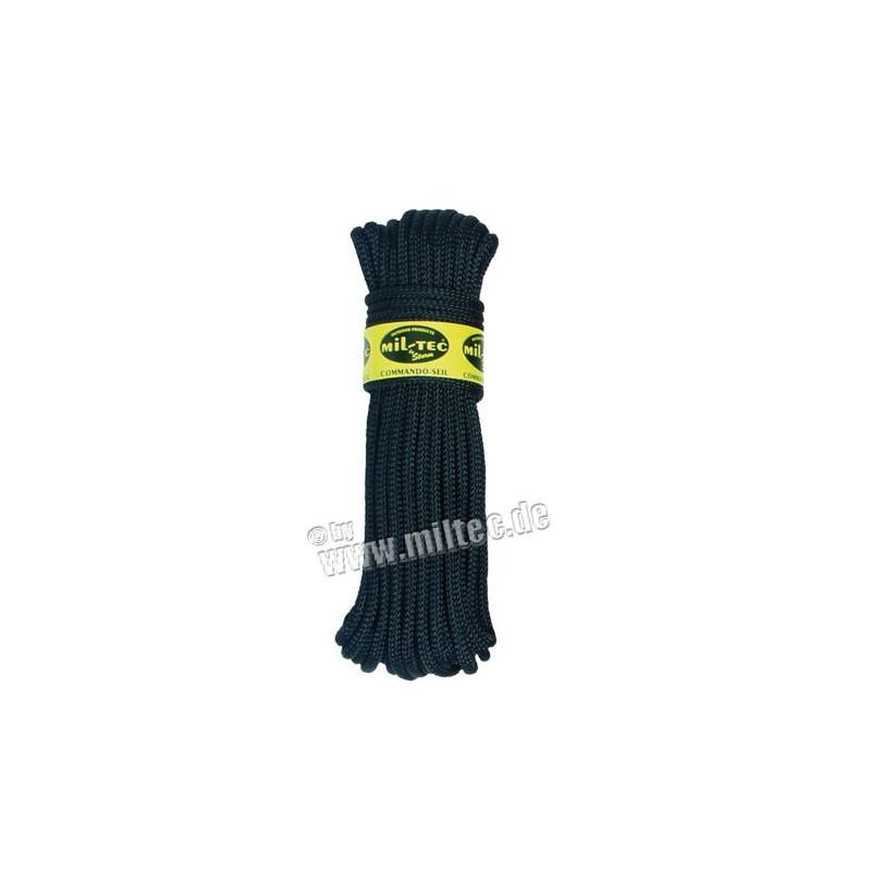 Commando nylonové lanko 15m délka (7mm) černé
