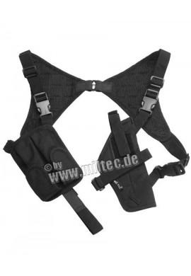 Pouzdro na pistoli cordura podpažní černé