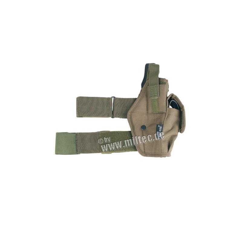 Nožní pouzdro na pistoli (L+P) oliv