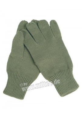 Pletené rukavice ACRYL OLIV