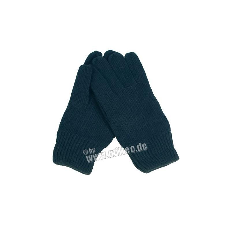 Pletené rukavice ACRYL černé