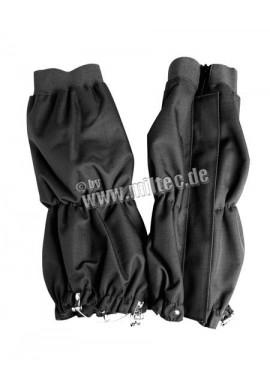 Návleky na boty s kovovými úchyty černé