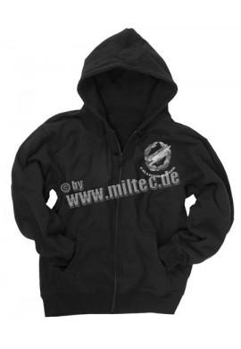 Mikina s kapucí na zip Fallschirmjager