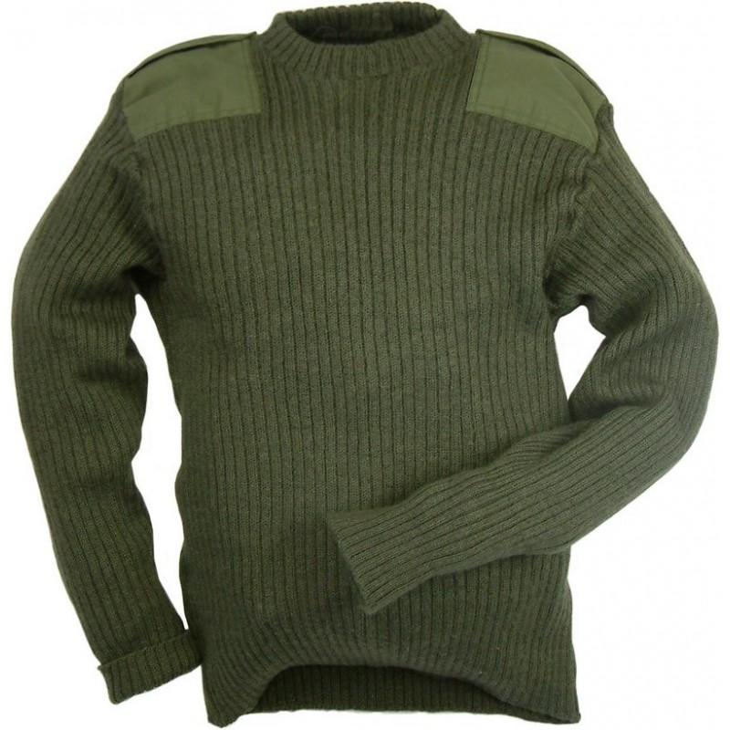 Britská armáda vlněný svetr oliv