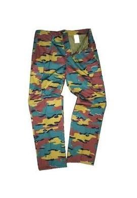 Belgické kalhoty Jigsaw camo
