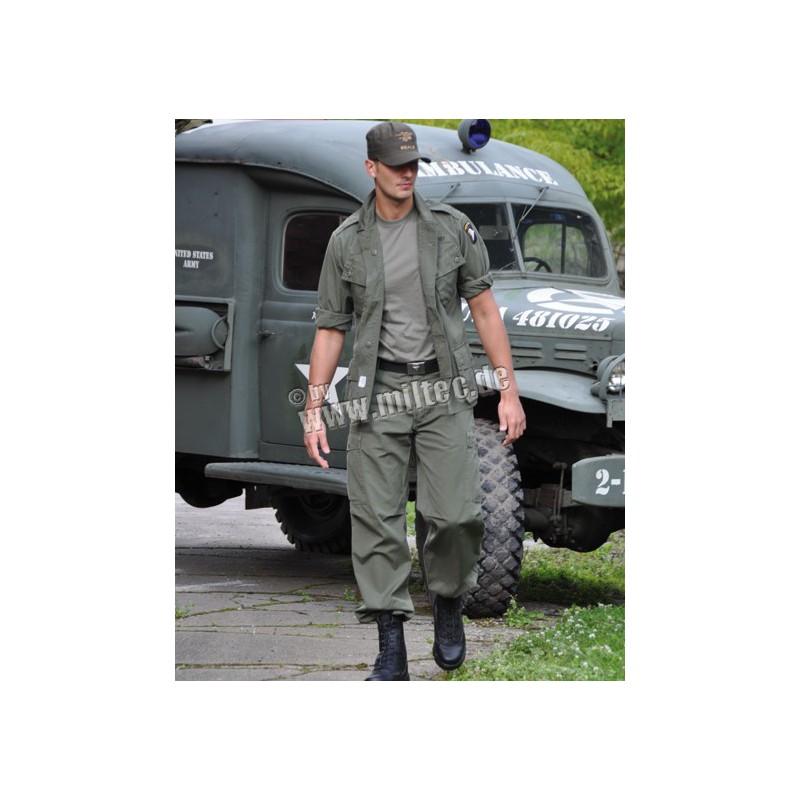 US Vietnam OD poplin kalhoty M64