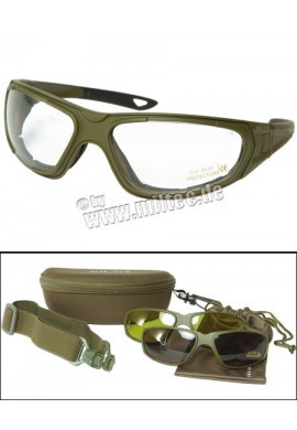 Taktické brýle 3v1 zelené
