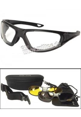 Taktické brýle 3v1 černé